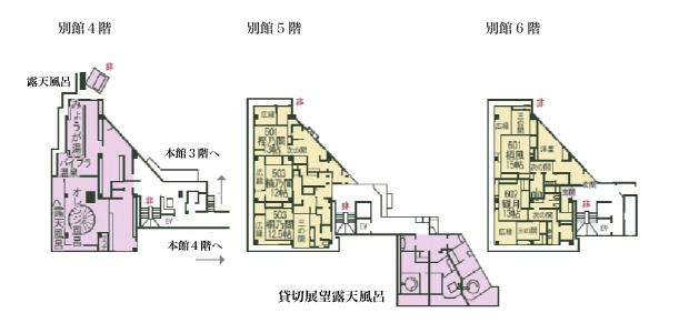 1F 川堰苑 フロアマップ